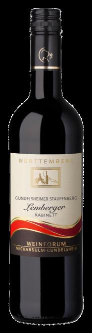 Gundelsheimer Staufenberg Lemberger, halbtrocken, Kabinett